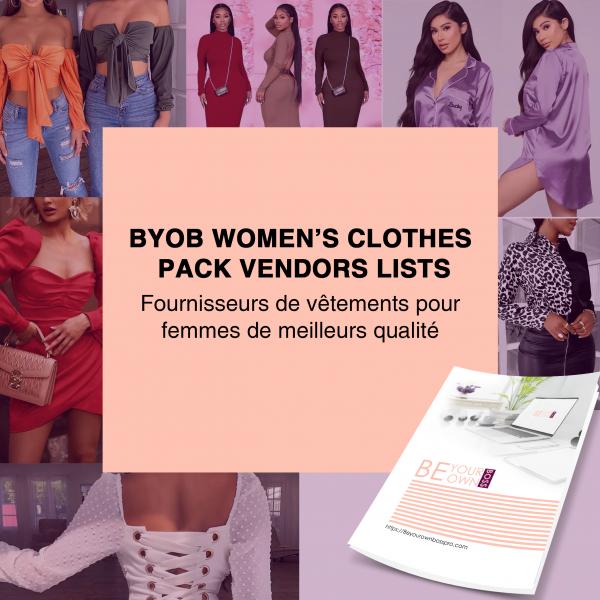 BYOB WOMEN'S CLOTHES PACK VENDORS LISTS