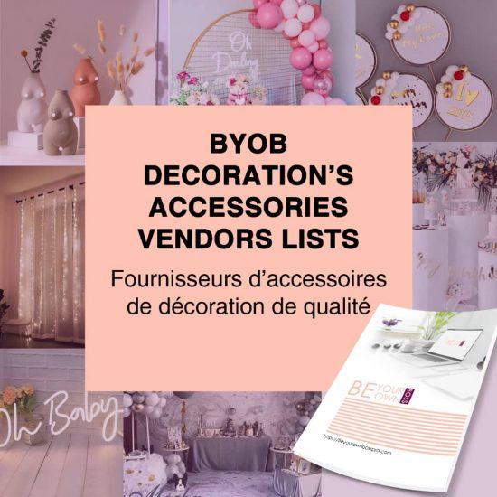 BYOB ACCESSOIRES DE DÉCORATION