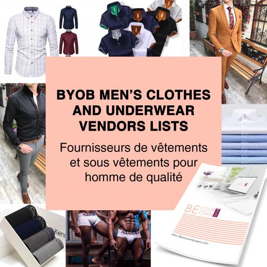 BYOB MAN CLOTHES VENDORS LISTS